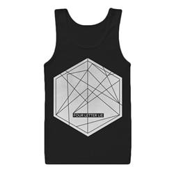 Hexagon Black Tank Top