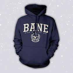 Hourglass Crest Navy Hooded Pullover