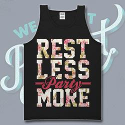 Rest Less Floral Black Tank Top