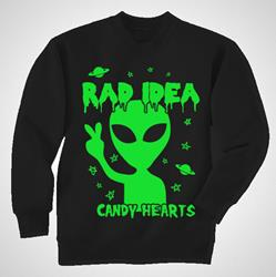 Alien Glow-In-The-Dark Black Crewneck