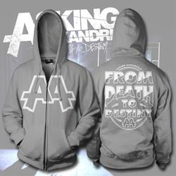 From Death To Destiny Heather Grey Zip-Up