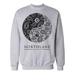 Yin Yang Heather Grey Crewneck