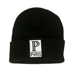 P Logo Black Beanie