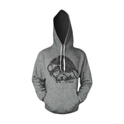 Crow & Mouse Heather Grey Hooded Sweatshirt