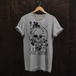 Skull Rose Heather Grey