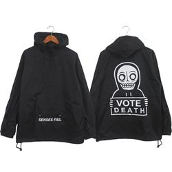 Vote Death Black Pullover Windbreaker