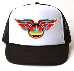 Winged Leaf Black/White Trucker Hat