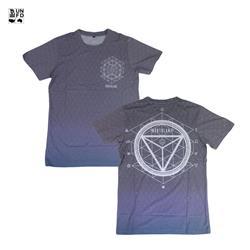 All-Over Print Black T-Shirt