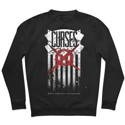 Merica Flag Black Crewneck Small
