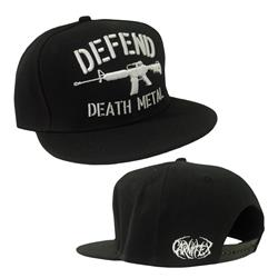 Defend Death Metal Black Snapback