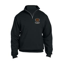 City Rocks NY Logo Black1/4 Zip Embroidered