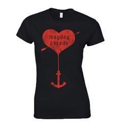 Heart Anchor  Black