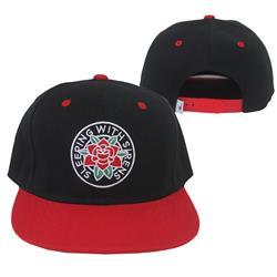 Rose Black/Red Snapback