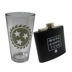 Flask & Pint Glass