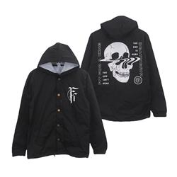 *Last One* Skull Black Windbreaker