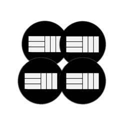 EM Logo Set Of 4 Ceramic Coasters