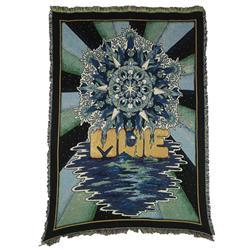 Logo Black/Green/Blue Blanket