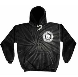 Skull Kid Spider Black Tie Dye Hooded