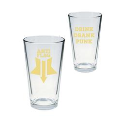 Drink, Drunk, Punk Pint Glass