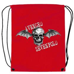 Death Bat Red Cinch Bag