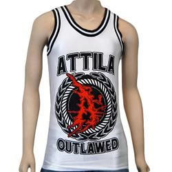 Outlawed White/Black Basketball Jersey