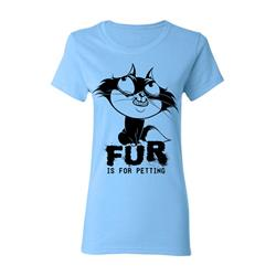 Fur Light Blue Girl's Tee