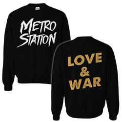 Love & War Black Crewneck Sweatshirt