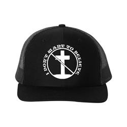 I Don't Want To Believe Black Trucker Hat