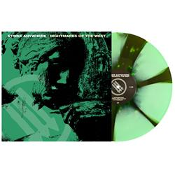 Nightmares Of The West Doublemint & Swamp Green Pinwheel W/ Splatter