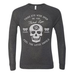 Third Eye Skull Dark Heather Unisex Lightweight Sweater