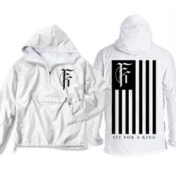 Flag White Pullover Windbreaker