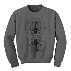 Bees Grey Crewneck Sweatshirt
