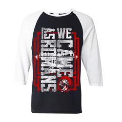 Sideways Black White Baseball Shirt