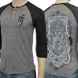 Mantralogy Durga Eco Grey/Black 3/4 Sleeve Henley