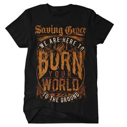 Burn Your World Black Final Print! $6 Sale *Small Only*