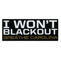 I Won't Black Out Black