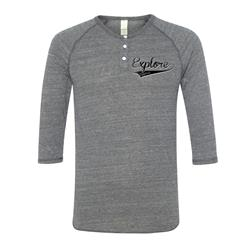 Old Script Heather Grey Henley