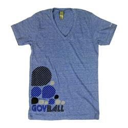 Tear Drop Heather Blue Unisex V-Neck