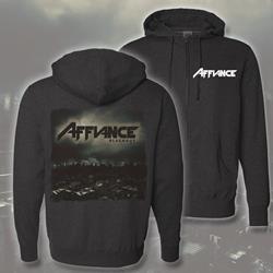 Blackout Charcoal Hooded Zip-Up Sweatshirt