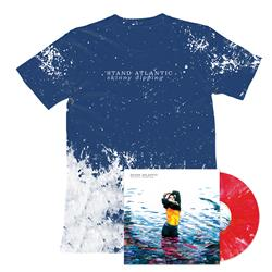Skinny Dipping - Vinyl + Blue/White Splashed Tie-Dye Tee