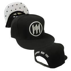 Logo Black White Brim Snapback