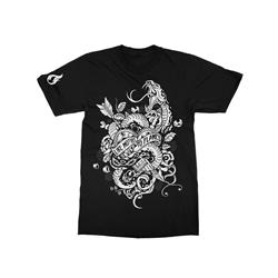 Snakes & Heart Black T-Shirt
