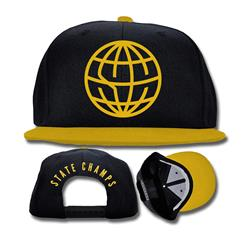 Globe Logo Black/Gold Snapback Hat
