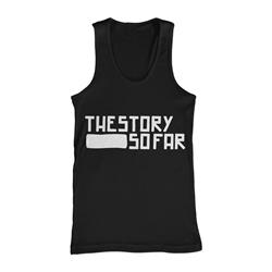 Logo White / Black Tank Top