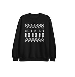 Ho Ho Ho Black Crewneck