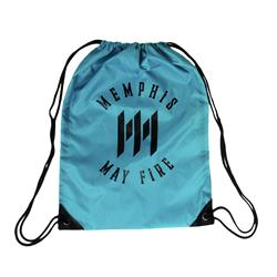 M Logo Blue Cinch Bag