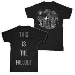 Cog Silver Print Black T-Shirt