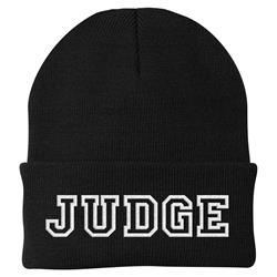 Text Logo Black Flip-Up Beanie