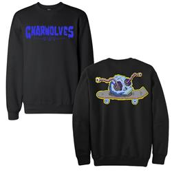 Skull Skate Black Crewneck Sweatshirt