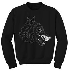 Wolfhead Black Crewneck